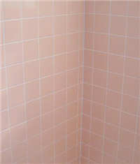 Peach Tiled Shower