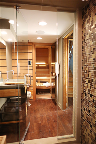 View of Sauna from Steam Shower