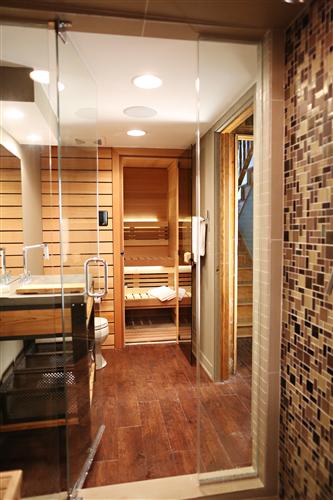 View of Sauna from Steam Shower