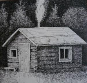 Joyce Koskenmaki rendering of family sauna