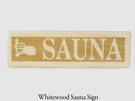 Whitewood sauna sign