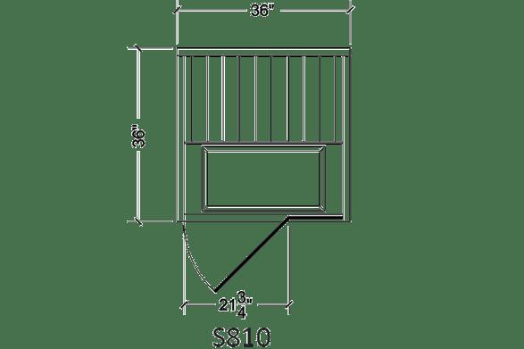 Finnelo S810 sauna size