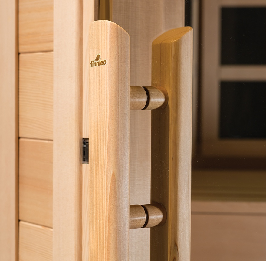 finnleo custom sauna door handle