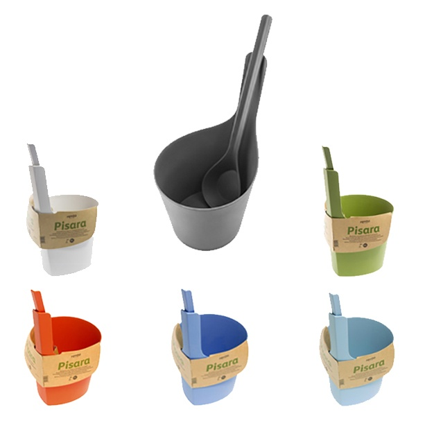 rento sauna pisara bucket and ladle