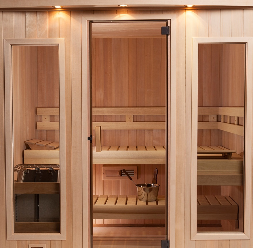 interior view of hallmark sauna