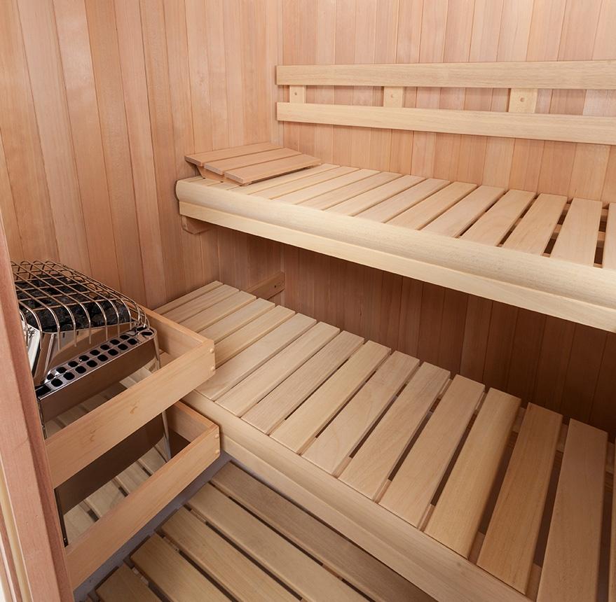 interior hallmark sauna