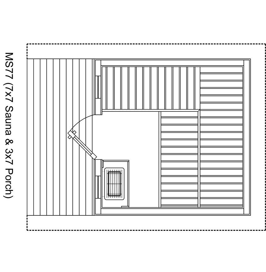 Metro 7x7 Outdoor Sauna