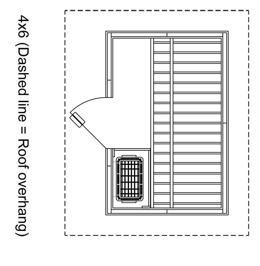 Patio 4x6 Outdoor Sauna