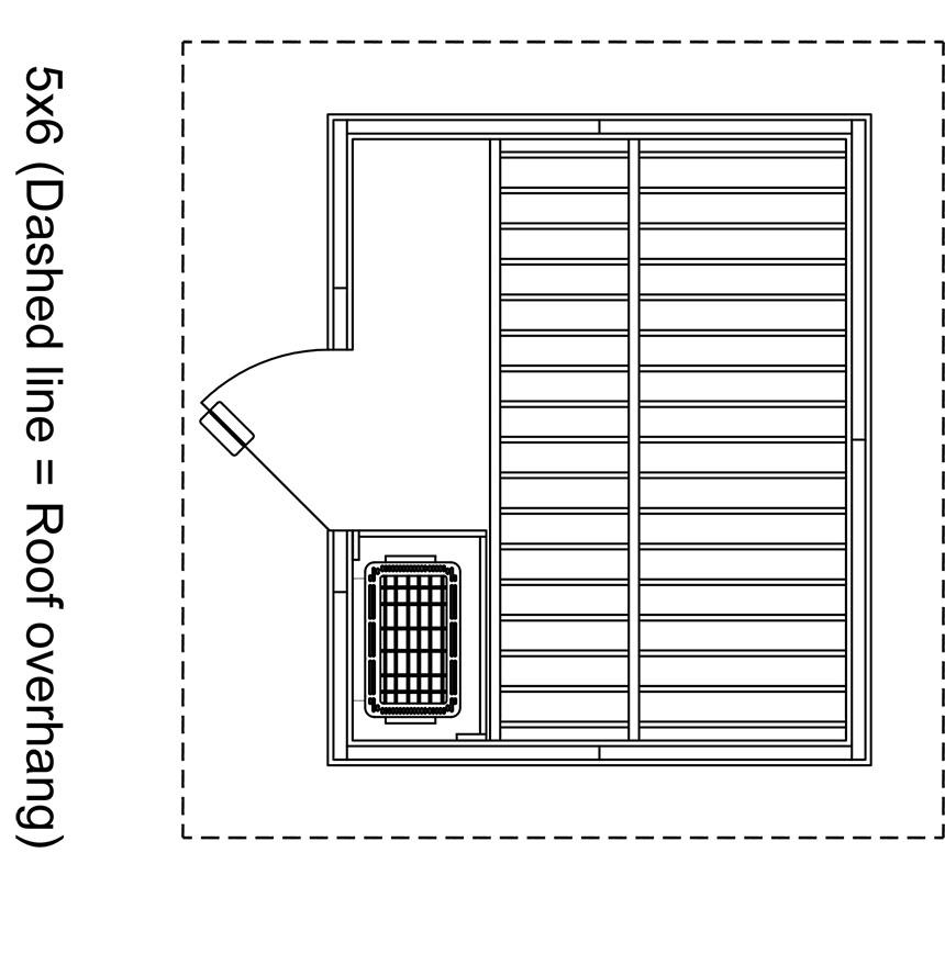 Patio 5x6 Outdoor Sauna