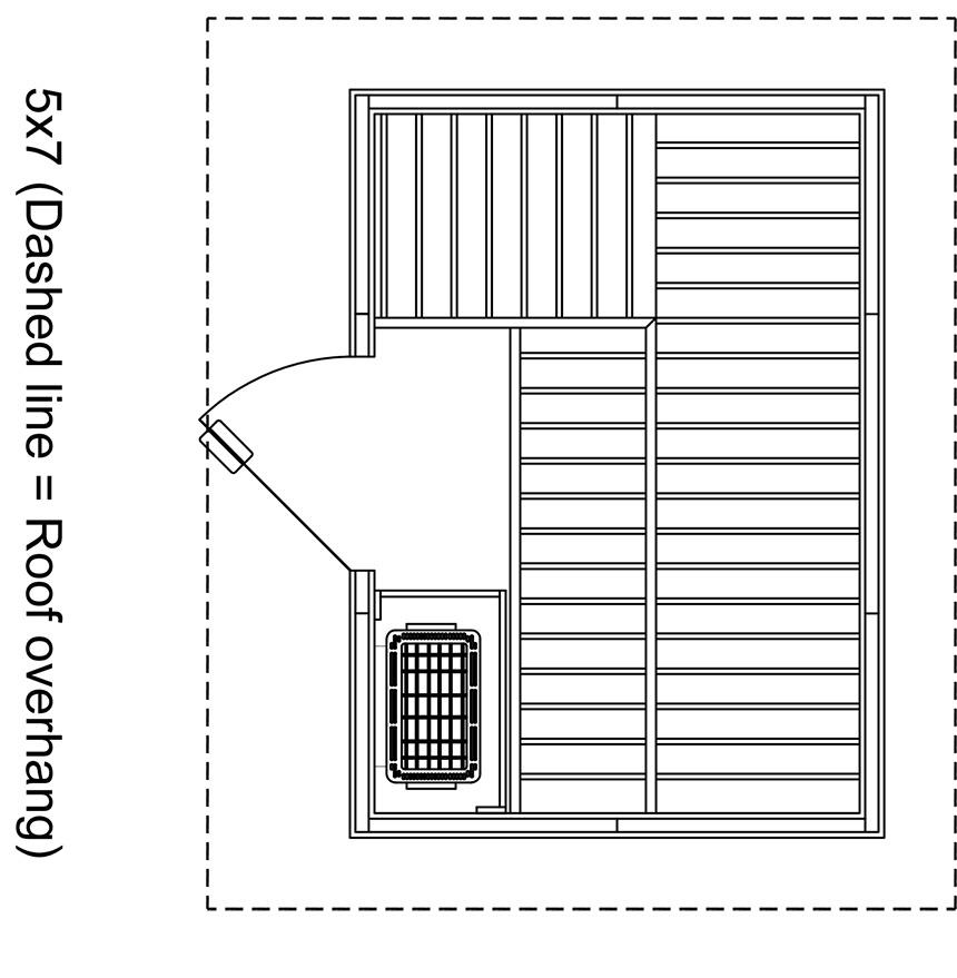 Patio 5x7 Outdoor Sauna