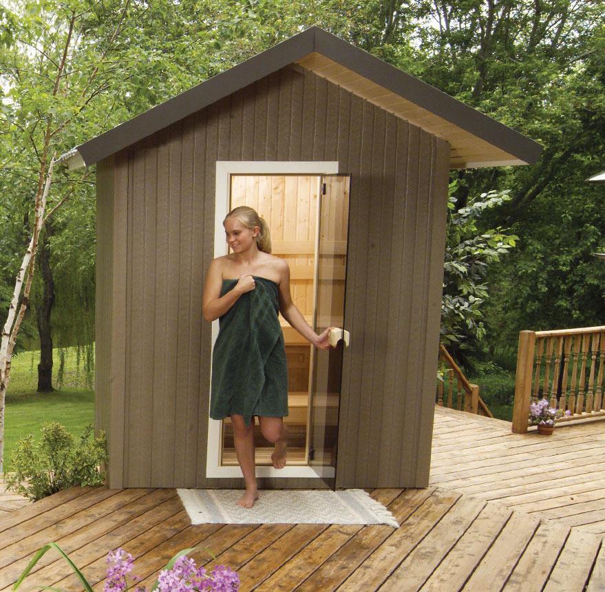patio outdoor sauna
