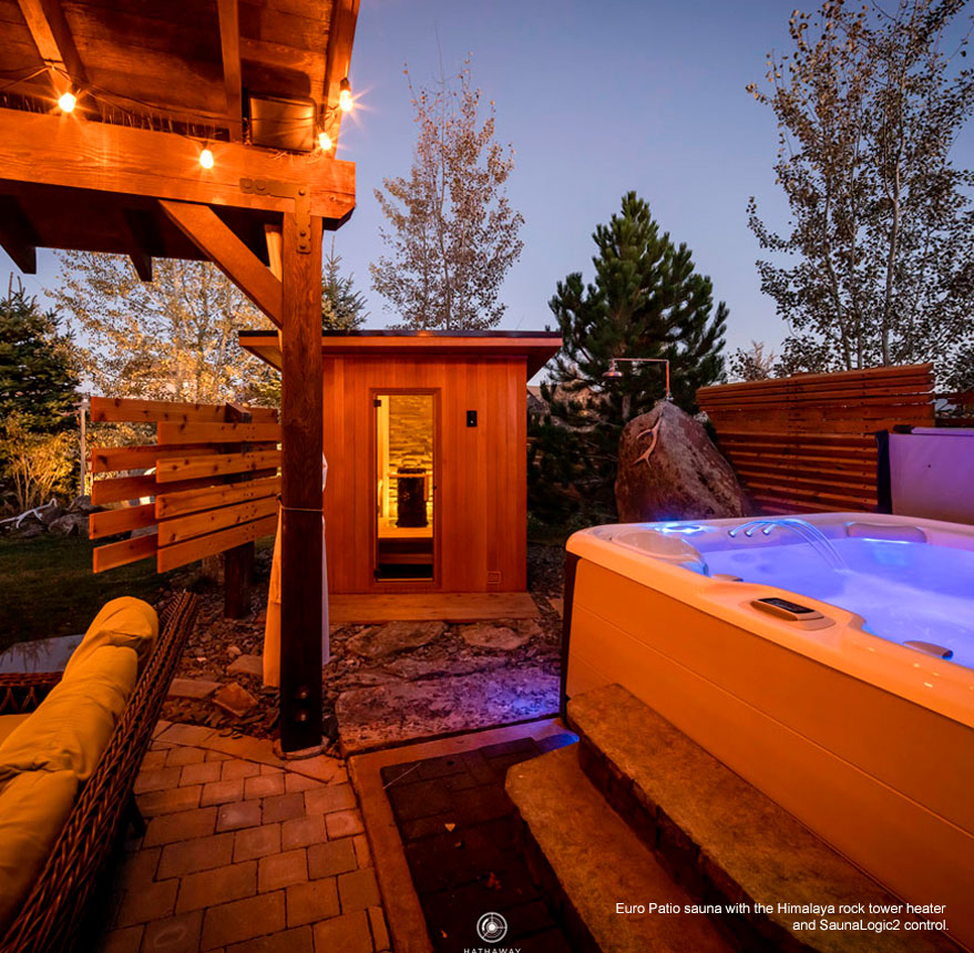 Euro Patio sauna with Himalaya heater and SL2 control.