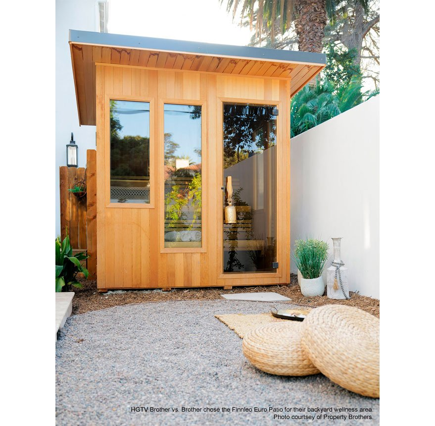 Euro Patio Sauna as seen on HGTV Brother Vs. Brother