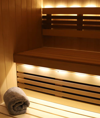 sauna lights and sound system