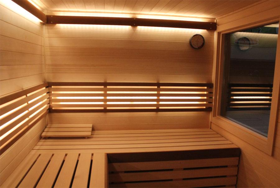 custom-cut sauna