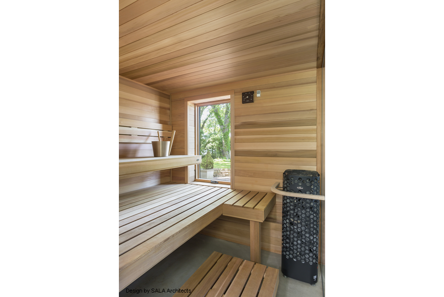 Sauna with Himalaya Rock Tower Heater