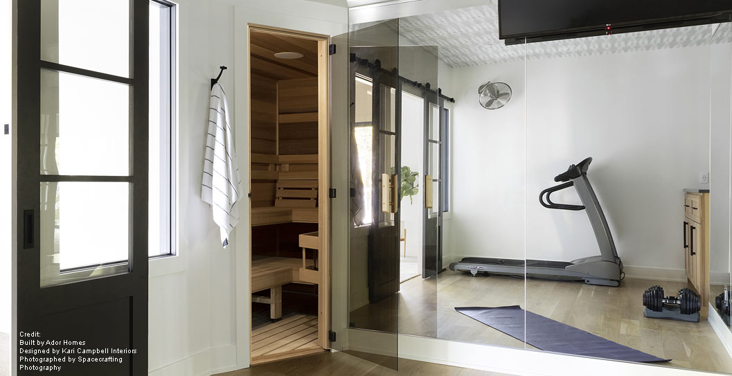 Beautiful & Functional At-Home Fitness Room & Sauna featured image