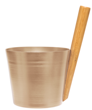 Sauna Bucket - Champagne - Straight Handle