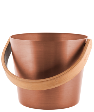 Sauna Bucket - Copper - Curved Handle