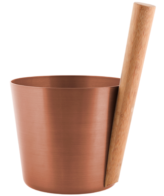 Sauna Bucket - Copper - Straight Handle