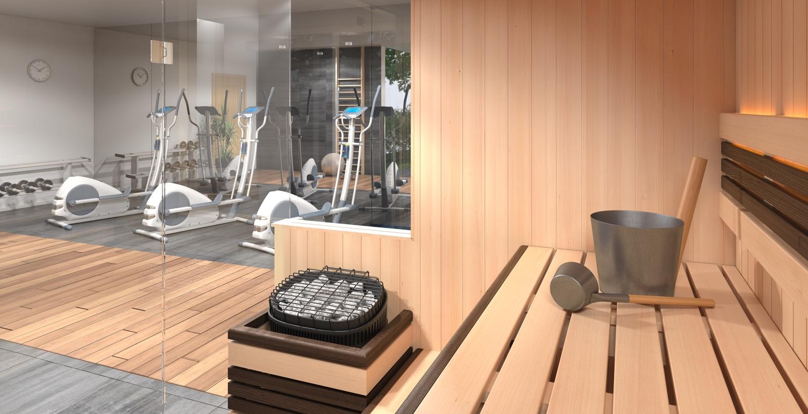 Traditional Finnish Indoor Sauna