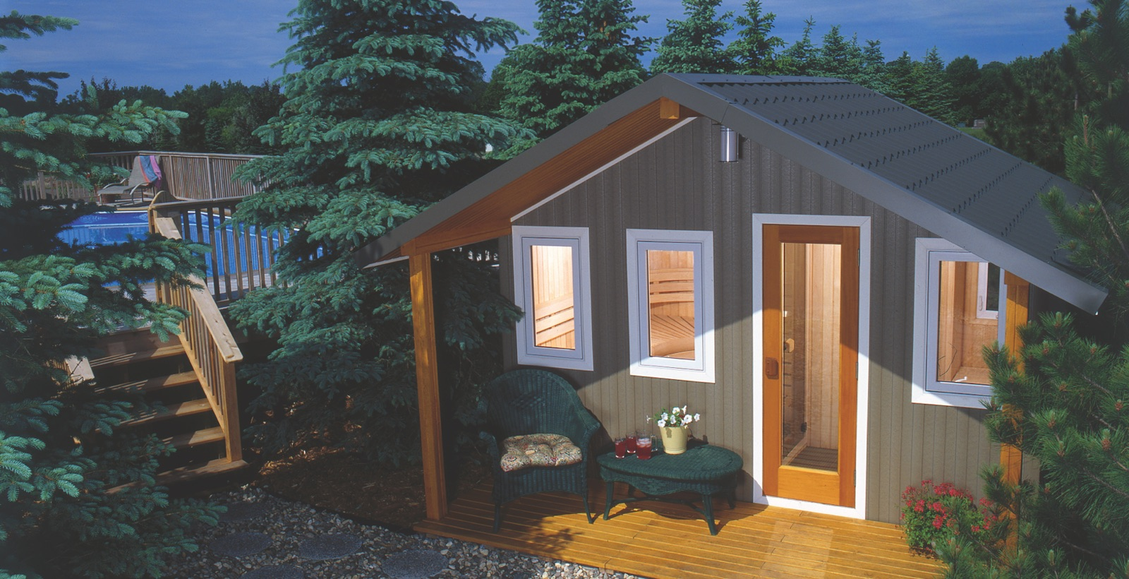 Traditional Finnish Outdoor Sauna by Finnleo