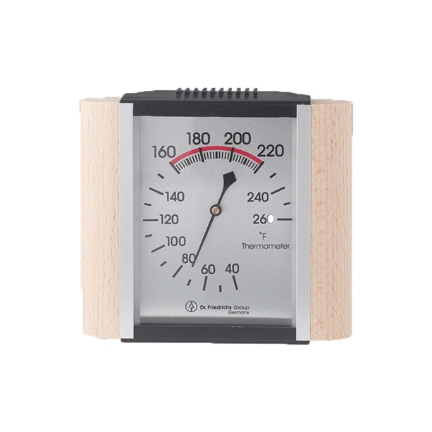 classic sauna thermometer wood trim