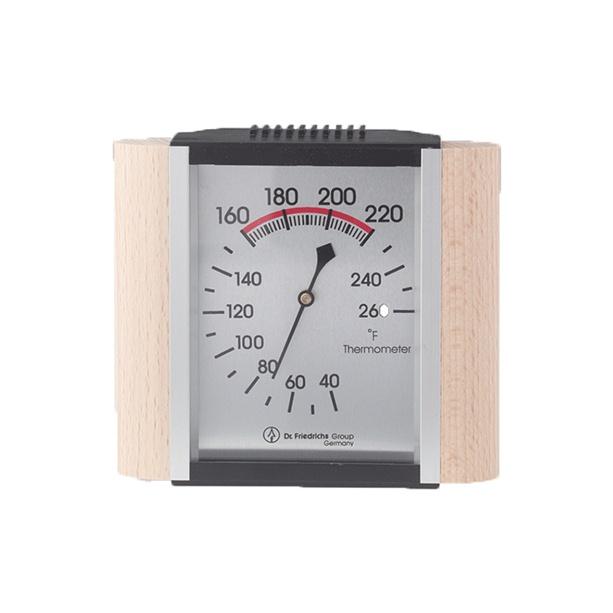 classic sauna thermometer wood trim