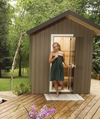 patio outdoor sauna
