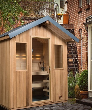 terrace outdoor sauna