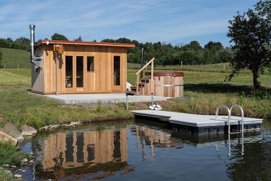 country-sauna-and-pond