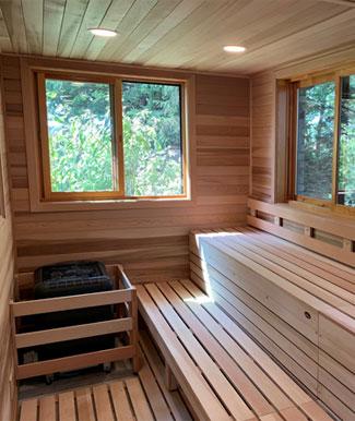 Custom Outdoor Sauna Structure