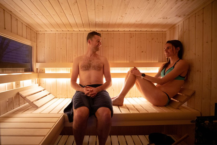 Quality family time in sauna