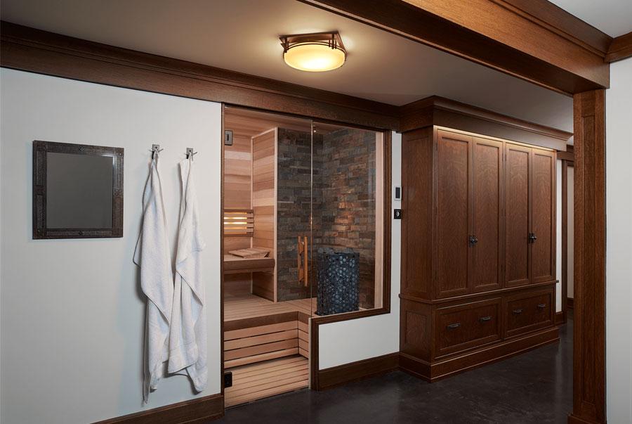 modern day sauna