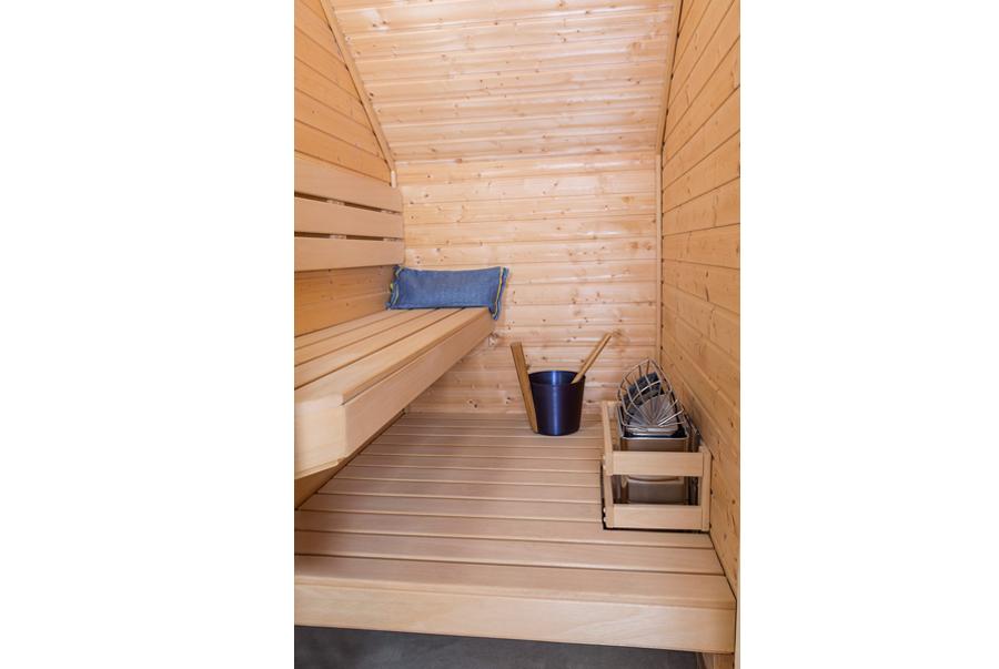 Sauna under a stairway