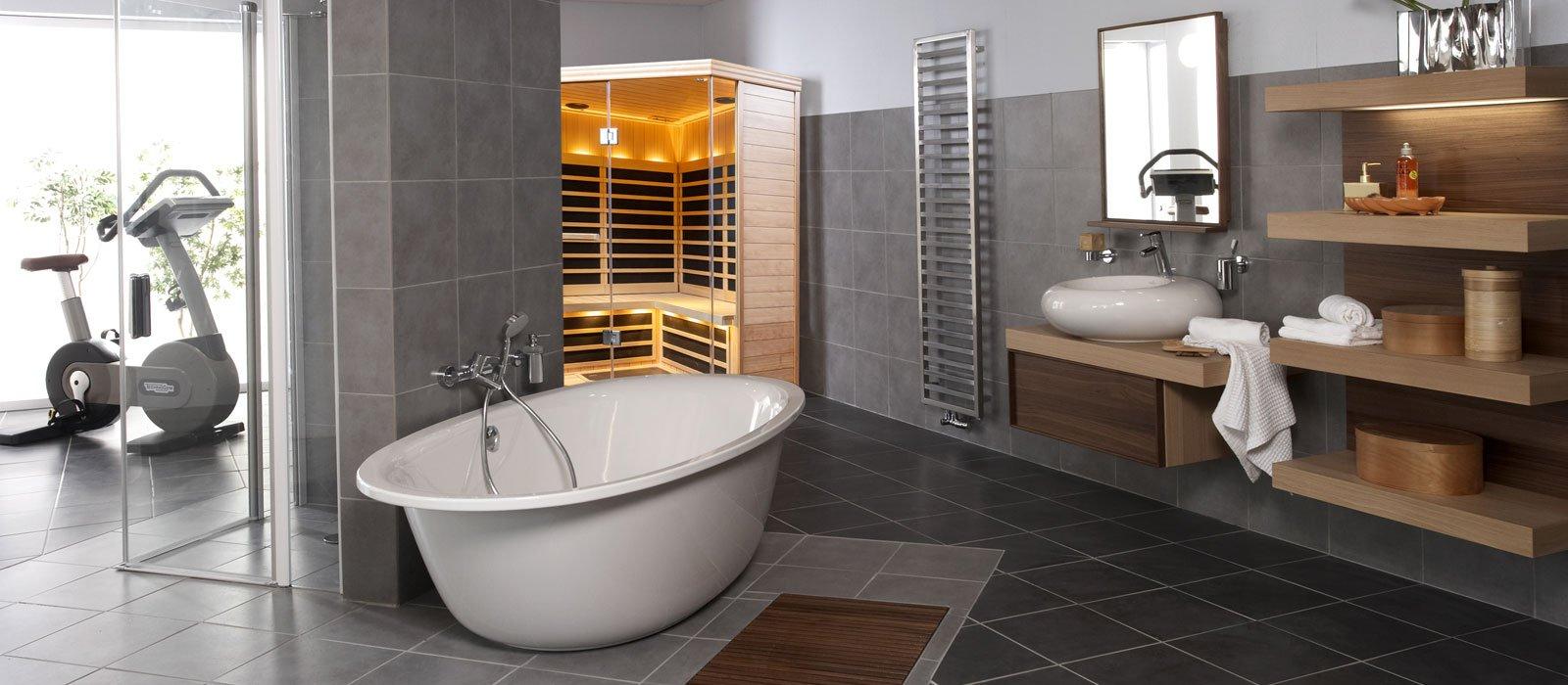 infrared sauna in home spa